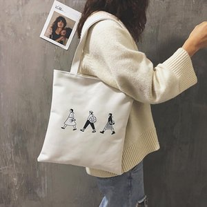 Ladies Handbags Cloth Canvas Tote Bag Cotton Shopping Travel Women Eco Reusable Shoulder Shopper Bags bolsas de tela