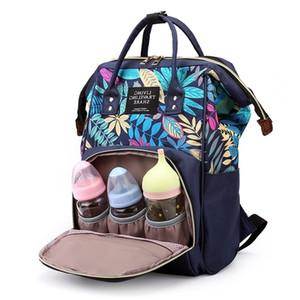 QWZ New Fashion Maternity Bolsa de pañal grande para Baby Capacity Bag Nappy Bag Travel Mommy Bag for Baby Care Mochila para mamá 201120