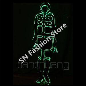 TC-150 Bunte LED-LED-Roboter-Kostüme Ballroom-Tanz tragen Disco-DJ-Baranzug Cosplay Programmierbare Käppchen-Club-Bar-Leistung