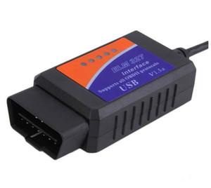 USB OBD2 V1.5 ELM327 Interface de diagnostic de voitures Scanner ELM 327 V 1.5 OBDII TOOL DE DIAGNOSTIC ELM-327 OBD 2 Code Scanner