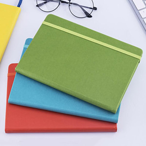 Gifts Personalized Custom A5 daily agenda Pocket planner Journal Diary PU Leather Cover Color Change Notebook with Elastic Band GWD3515