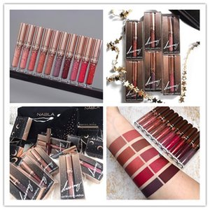 Hot Sale Makeup Brand Nabla Liquid Lipstick 10 Colors Lip Gloss Star Lipgloss Makeup Lips Cosmetic Long Lasting Matte Llipstick epacket