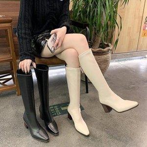 Chaussures blanches à glissière Bottes en caoutchouc pour femmes Bottes de plateforme - Femmes Peluche Sexy Thigh High Talons Haute Sexy Pluie Stileto