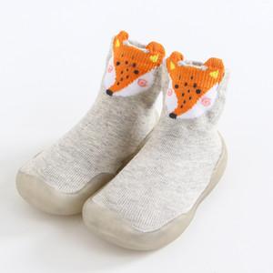 جورب الصوف لينة الصوف التمهيد الأحذية الخريف الشتاء طفل الرضع الفتيات الصلبة داخلي الأحذية كيد مولود جديد طفل رضيع الأحذية القطن الاطفال الجوارب الأحذية