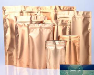 Gold Soporte claro de aluminio Lámina con cremallera de aluminio Bloqueo de almacenamiento de alimentos Selva Selva Embalaje Bolsas de envasado Mylar Foil Maíz Doypack Bolsa de fiesta