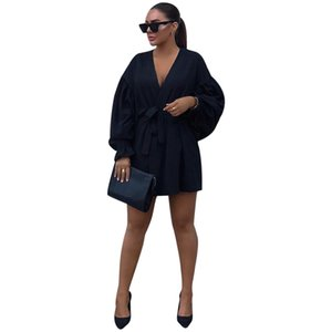 special shot link standalone station European and American women bubble cuffling sleeve dress straps