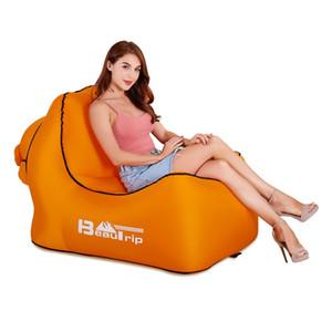 Hiçbir Pompa Gerekli Açık Hızlı Şişme Hava Sandalye Şezlong Hangout Taşınabilir Hafif Kamp Plaj Rüzgar Çanta Hava Kanepe Kanepe