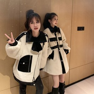 Web celebrity lana cappotto di lana femminile autunno inverno versione coreana spliting sciolto e spessa temperamento joplin cappotto 40-80kg