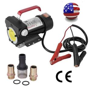 Portable 12V DC Electric Fuel Transfer Pump Diesel Kerosene Oil Commercial Auto
