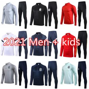 2021 Fransa İspanya futbol Eşofman Uzun kollu chándal futbol 20 21 Arjantin Belçika futbol Eğitimi takım KANE WERNER eşofman