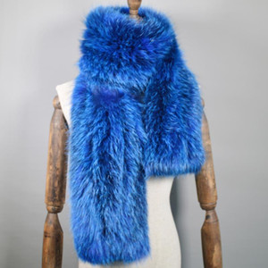 2020 Long Style Good Quality Women Real Fur Scarf Warm Soft Knitted Real Fur Shawl Wrap Natural Scarves