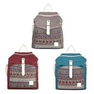 top quality women backpack canvas backpack female double shoulder multi-purpose daily travel bag backpacks crossbody bags