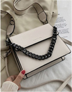 Bag new 2020 trend hardware thick chain broadband one-shoulder small square bag fashion texture versatile cross-body bag