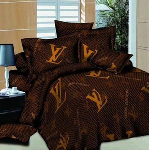 2020 Geometric design minimalist bedding set of four aloe vera cotton chemical fiber comfortable letter printing four pieces bedding set