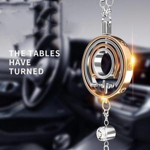 Superior Quality Car Rearview Mirror Pendant Zinc Alloy Rhinestone Hanging Decoration For Men Women Car Accessories Interior