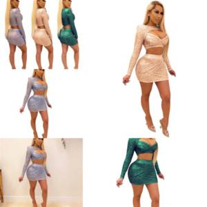 9FL Sıska Twodress Moda Anne Tasarımcısı Kadınlar Seksi İki Pie La Kızlar Setleri Giysi Yaz Elbise Gelin Twosets