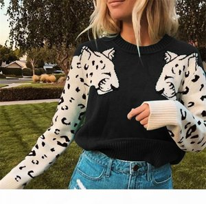 Designer Women Coat Leopard Print Long Sleeve Patchwork O Neck Fashion Coat 2020 Spring Autumn Lady Clothes