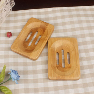 Natural Bamboo Wood Soap Rack Wooden Soap Case Holder Tray Dish Storage Plate Box Container For Bath Shower Bathroom KKB3308