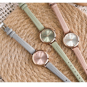 Ladies High Quality Fashion Watch Simple Temperament Compact Belt Watch Student Small Fresh Watch Free Shipping