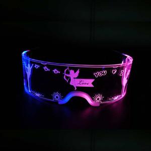 7 cores LED Luz Óculos Glow Festa Luminou LED Óculos Light Up Rave Traje Vidros DJ Xmas Festival Party Decoração