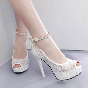 Sandálias stiletto saltos femininos shoe espadrilles plataforma fivela fivela lace denim mulheres abertas meninas de alto conforto de salto alto