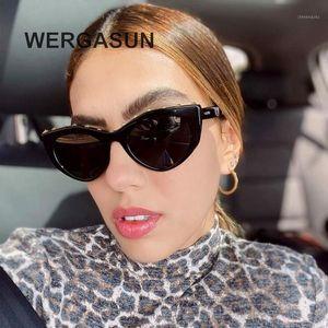 Солнцезащитные очки WertaSun Мода Cat Eye Женщины Дизайнер Винтаж Солнцезащитные Очки Женщина для Gafas De Sol UV4001