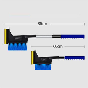 3-in-1 Multi-function Long Handle Car Ice Scraper Snow Shovel Brush Winter Car Window Windscreen Snow Removal Car Care GWD3483