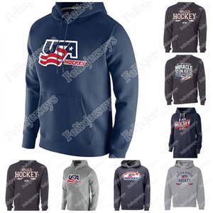 1980 Miracle on Team USA Hockey Jerseys Team olympique Team USA Personnalisez le Jersey Hockey Cross Cross Sweat à capuche Nom et Numéro