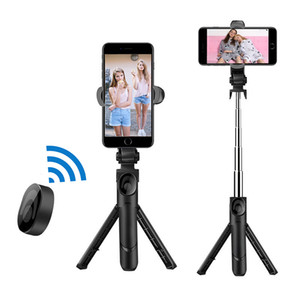 TOKOHANSUN Mobile Holders Handheld Stick Tripod Bluetooth Remote and 360 Degree Phone Clip for iphone Android