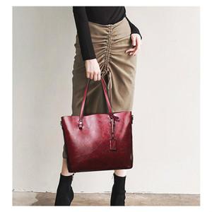 Ladies Shoulder Purses and Handbags 3Pcs Retro Wax Oil Leather Bag Women Handbag Set Women Totes Bolsas Feminina Messenger Bags