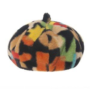 CEWG OZYC Kadınlar 201012 Bere Sonbahar Kış Sekizgen Kap Şapkalar Şık Sanatçı Bere Newsboy Kapaklar Siyah Gri Ressam Şapkalar Yün