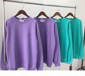 2020 hot classic Fashion women's Acne Sweater luxury designer Studios Long sleeve Sweater embroidery smiley coat