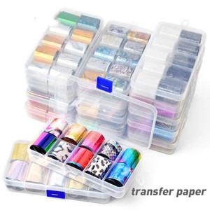 Stickers & Decals 10 Pcs Nail Foil Set 2.5*100cm DIY Art Decorations Transparent AB Color Transfer Sticker