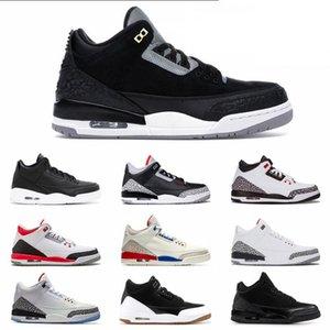 Nike Air Max Retro Jordan Shoes 3 3s OG Herren-Basketball-Schuhe Schwarz Cement Cat Pure White True Blue Tinker Grün UNC Mens Trainer Sport-Turnschuhe 7-13