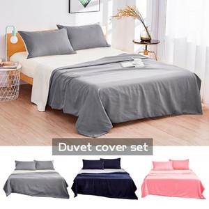 Double-sided Duvet Cover Sets Solid Bedding Set Mattress Sets Edredones y Conjuntos De Ropa De Cama Quilts & Bedding Set1