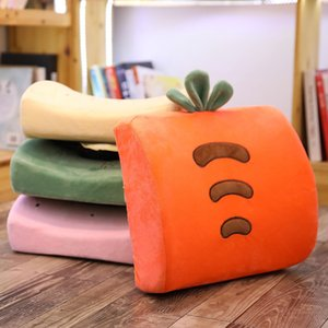 Soft Memory Foam Fruit Lumbar Pillow Carrot Strawberry Pineapple Cactus Creative Cushion plush doll girl Children toys gift