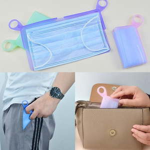 1pc Silicone Masks Save Box Mask Temporary Storage Clip Folded Portable Waterproof Box To Store Masks Boxes Masks Save Holder