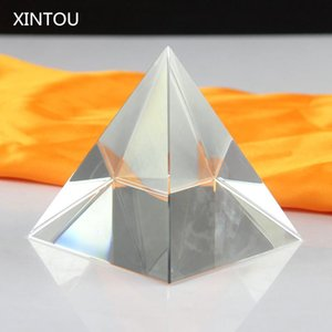 XINTOU Crystal Egypt Pyramid Model Craft Paperweight Antique Fengshui Glass egyptian piramide figurine miniature ornaments