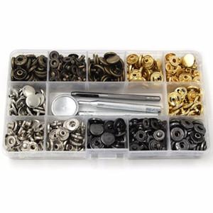 4style 40-120pcs / pack Set Metal Snap Fast Destan Press Toach Botones de cuero CRAFT SNAP Sujetadores Snap Button Press Studs con 633 #