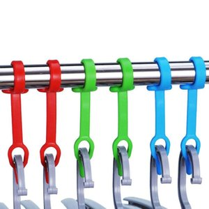 10PCS Hanger With Hook Fixed Buckle Windproof Scratch Hanger Hook Portable Clothes Non-slip Fixed Buckle