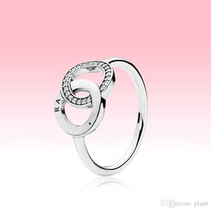 real 925 Sterling Silver CZ Diamond RING with LOGO Original box fit Pandora circle Wedding Ring Engagement Jewelry for Women