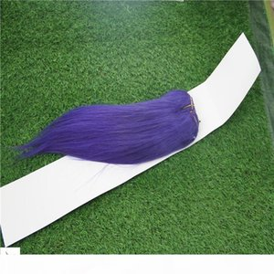 "Purple Color Double Weft Brazilian Virgin Straight Hair Weave 100% Brazilian Human Remy Hair Extension 10-30"" Unprocessed Hair"
