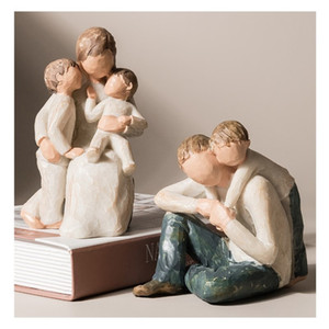 Resin Nordic Abstract figure Statue Home Furnishing Decoration wedding gift office table store decorations crafts ornaments T200703