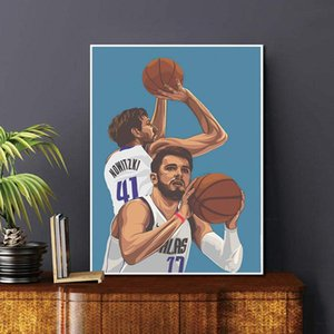Dirk Nowitzki Luka Doncic Paintings Wall Art Print for Home Living Room Bedroom Hotel Study Decorations