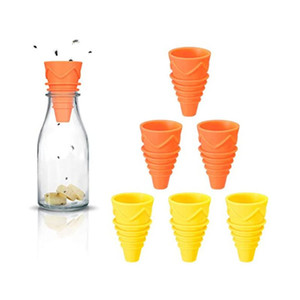 Flexible Flies Trap Funnel Reusable Silicone Fruit Fly Trap Pest Control Catcher Killer Practical Insects Trapping Funnel DWB3325