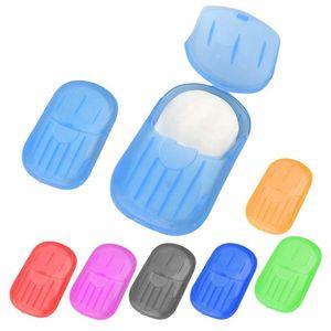 Disposable soap paper 20PCS box portable hand washing tablet Travel Soap Paper Washing Hand Bath Portable Boxed Foaming Soap AHA2544