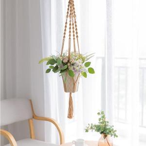 Горячие продажи 100% Makrame Handmade Makrame Practs Flower / Pot Hander для украшения стены Каутард сад с различными стилями DHF4609