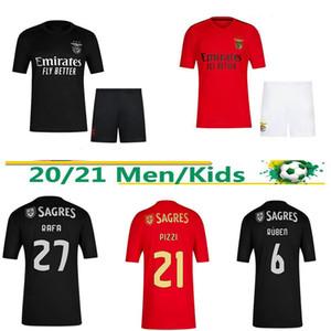 20 21 SL Benfica red black and white football shirt Jonas Joao Felix Vinicius 2020 2021 third men's children's suit football shirt