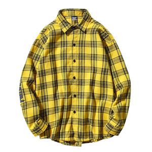 Dark Icon letras impresas camisas casuales hombres franela camisa de los hombres 2020 otoño hombre ropa J1216