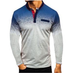 Summer Men's Polo Shirt Europe and America 3D Digital Gradient Printing Lapel Short Sleeve T-shirt Men's Sports Ou Code